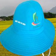 nón tai bèo, mũ tai bèo - xưởng may nón tai bèo in logo tặng nông dân giá rẻ tp hcm ms 16