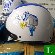 nón bảo hiểm, mũ bảo hiểm in logo máy may JACK tp hcm ms 25