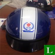 nón bảo hiểm trường CAO ĐẲNG QUỐC TẾ - In logo lên nón bảo hiểm tp hcm ms 21