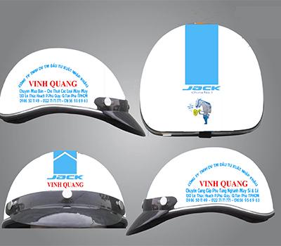 Nón bảo hiểm in logo máy may VINH QUANG ms70