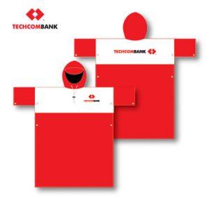 áo mưa ngân hàng techcom bank