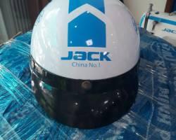 Nón bảo hiểm in logo công ty Jack Sewing Machine Co., Ltd