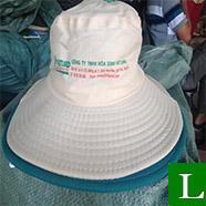 nón tai bèo, mũ tai bèo giá rẻ in logo tặng nông dân làm hội thảo CÀ MAU ms 07