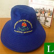 nón tai bèo - công ty sản xuất nón tai bèo in logo làm quà tặng nông dân tp hcm  ms 12