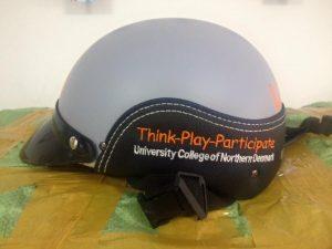 mũ bảo hiểm quà tặng in logo